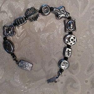 Heavy peeter beaded bracelet,very heavy